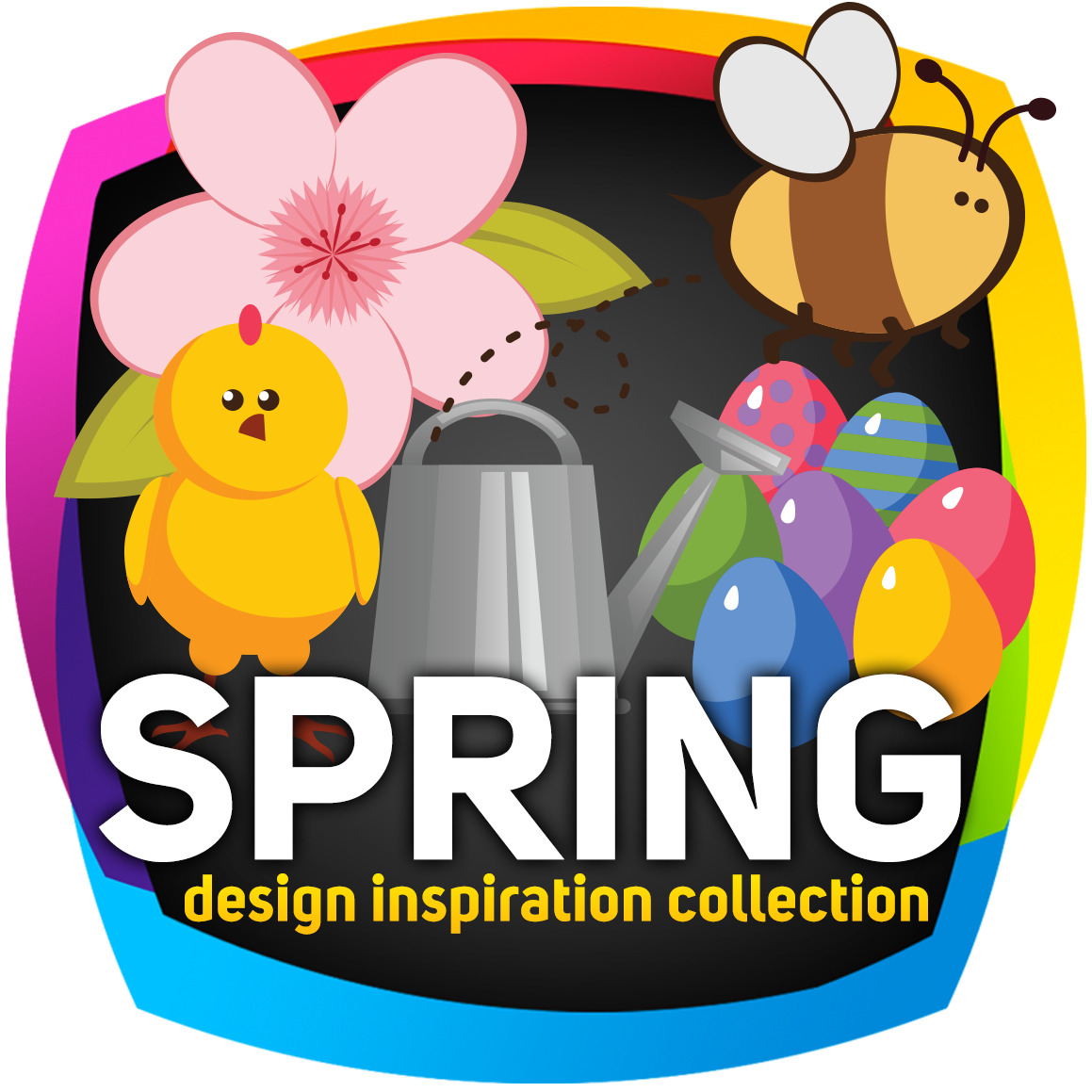 Spring design inspiration collection. Pc clipart designer