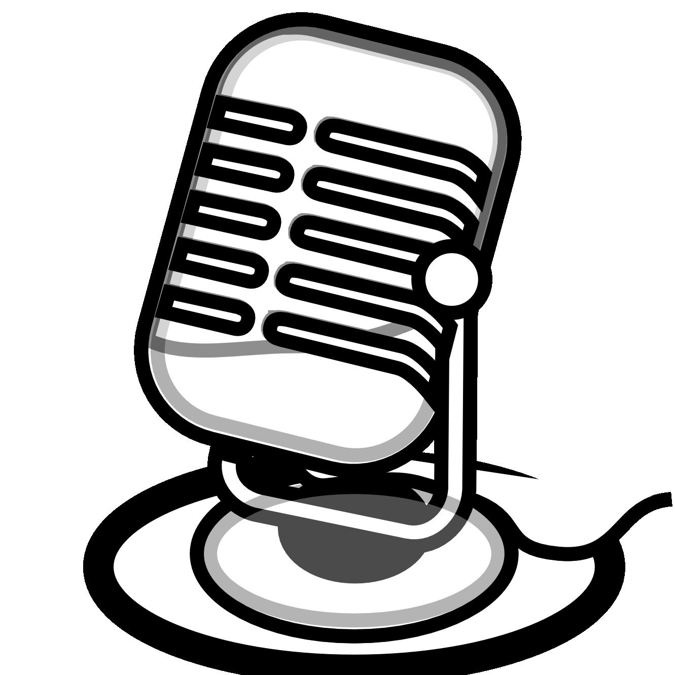 White clipart transparent. Radio microphone clip art
