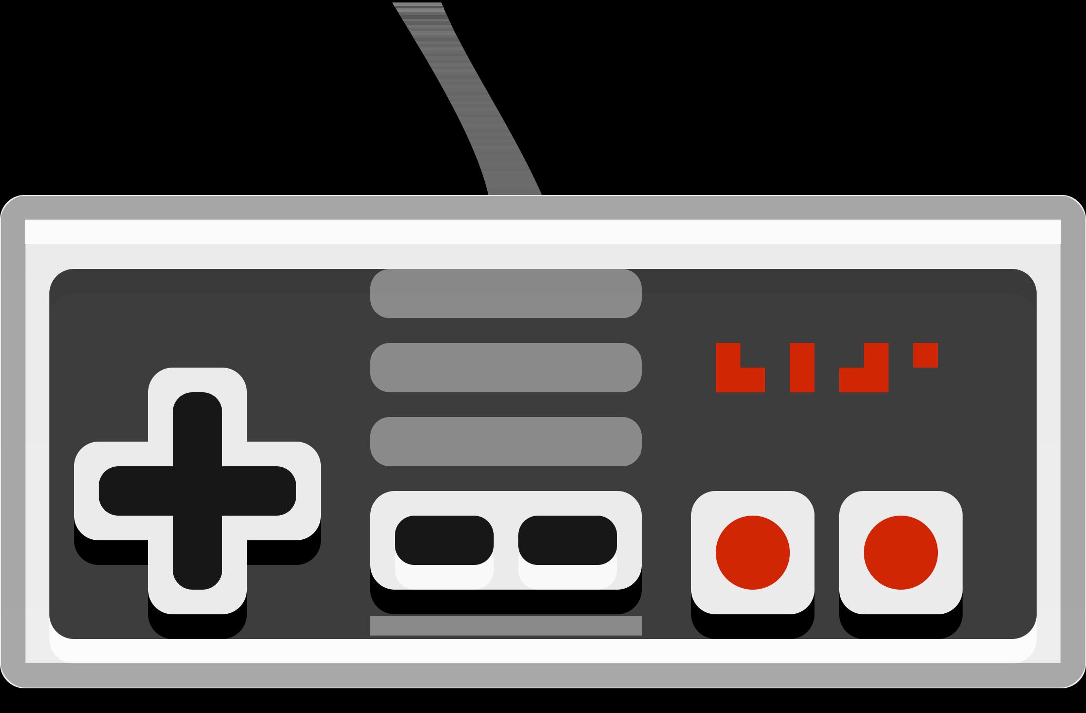 Games clipart clip art. Console nintendo controller vector