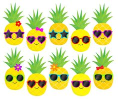 Cool pineapples cute digital. Boarder clipart pineapple