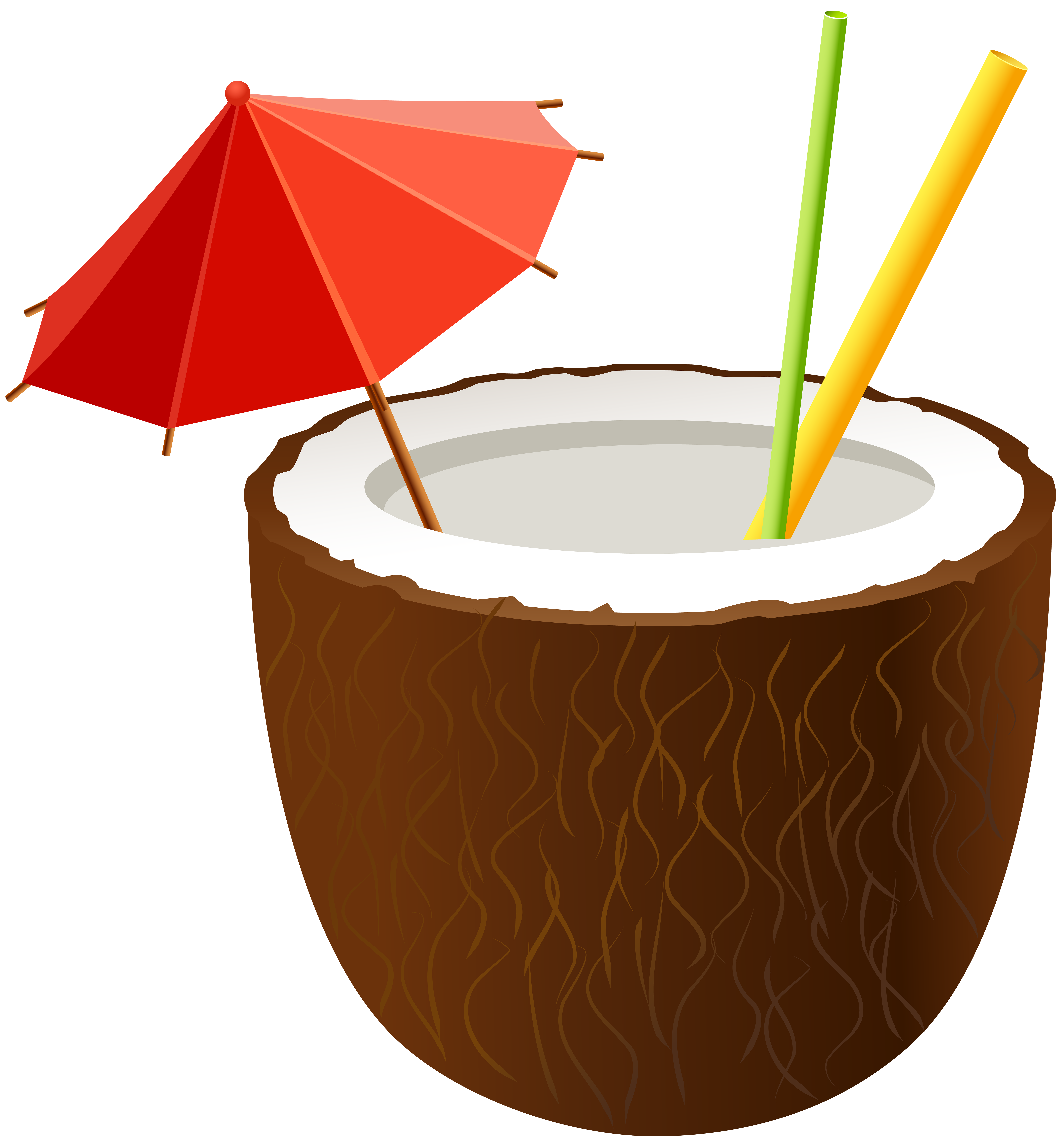 Coconut cocktail png clip. Water clipart spiral