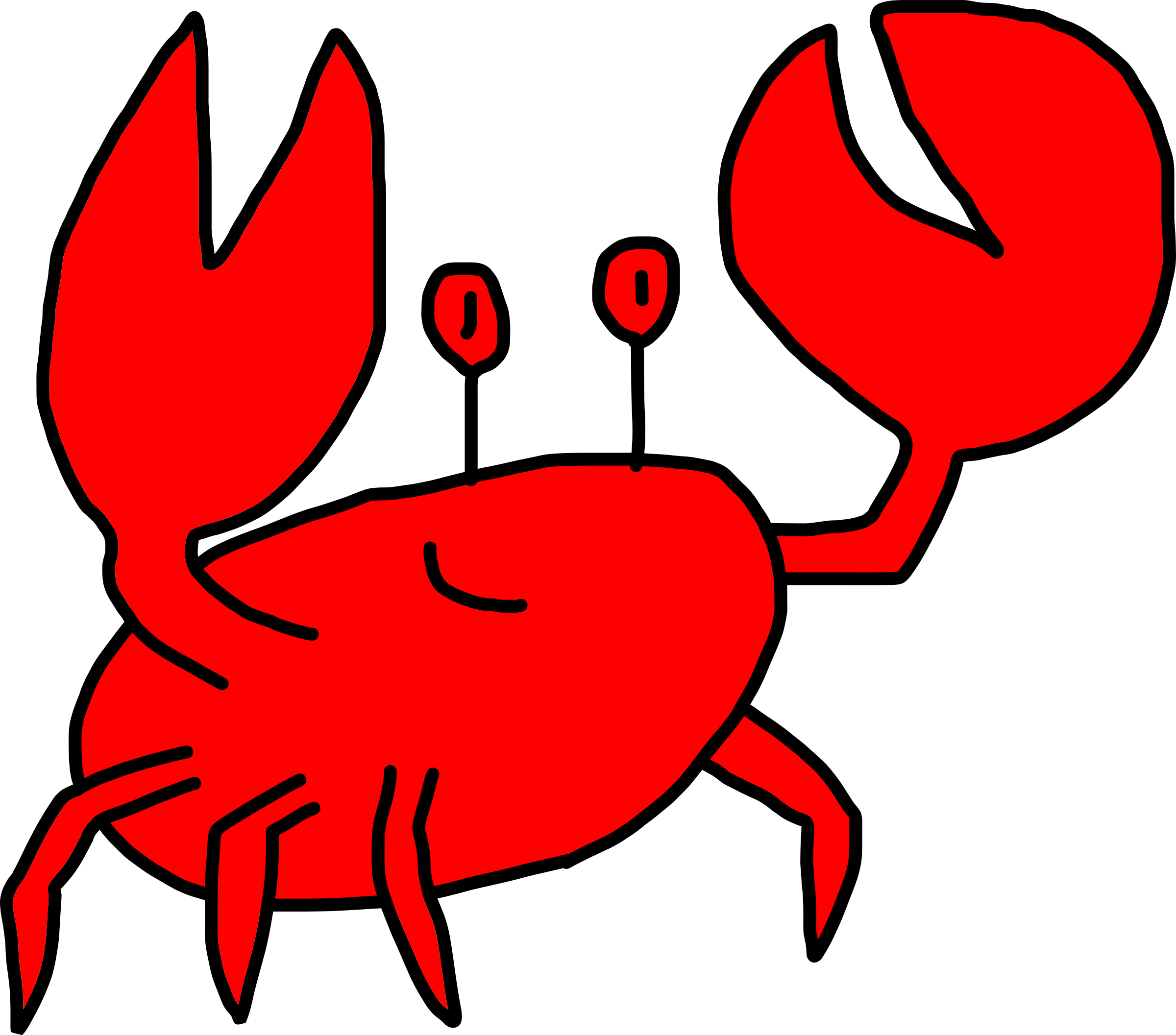 Crab clipart two. Friendly big image png