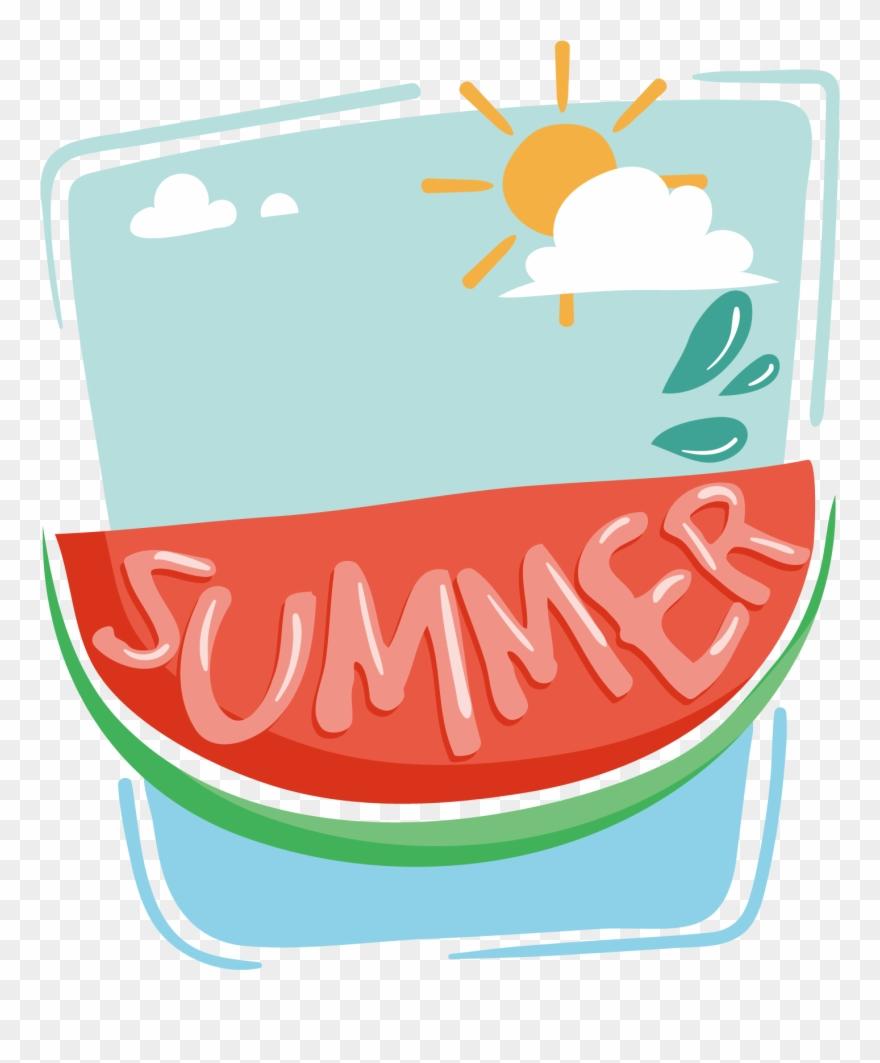 Clipart summer decoration. Hand drawn cartoon png