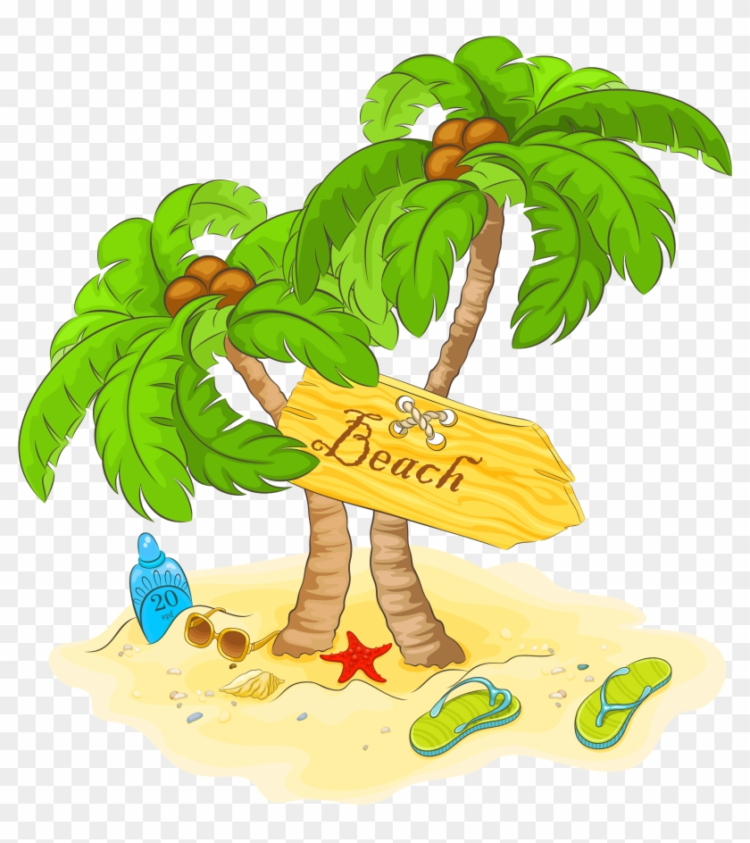Beach clip art png. Clipart summer decoration