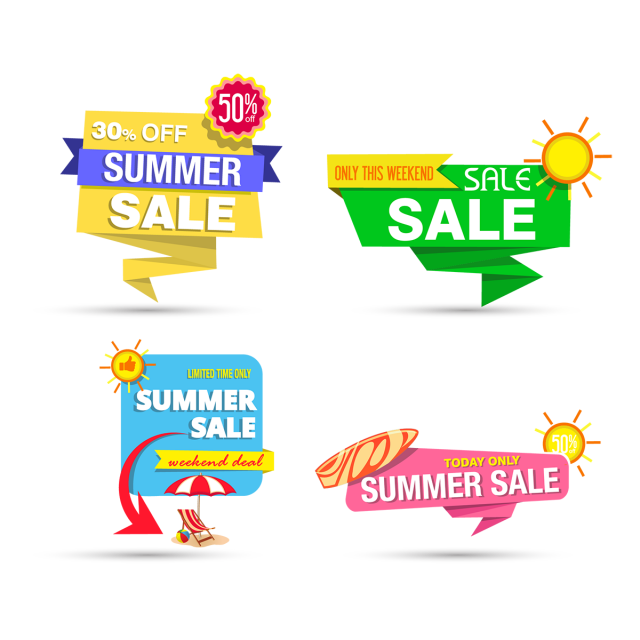 Clipart summer element. Graphics banner design sale