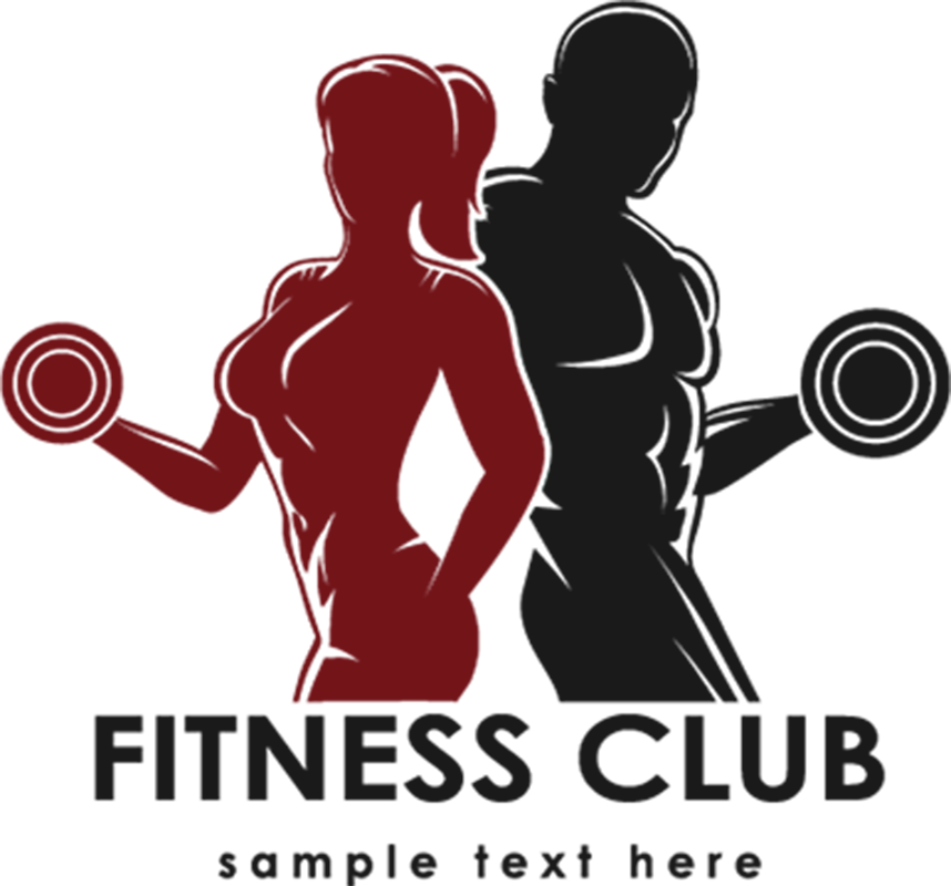 Sports men and women. Winter clipart fitness