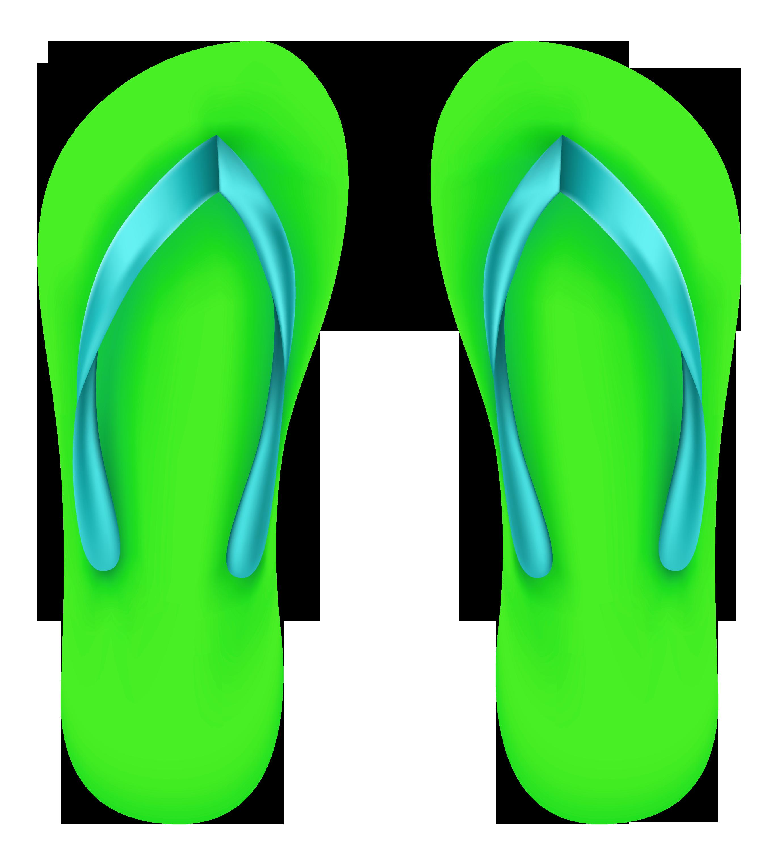 Green beach flops png. Hawaiian clipart flip flop