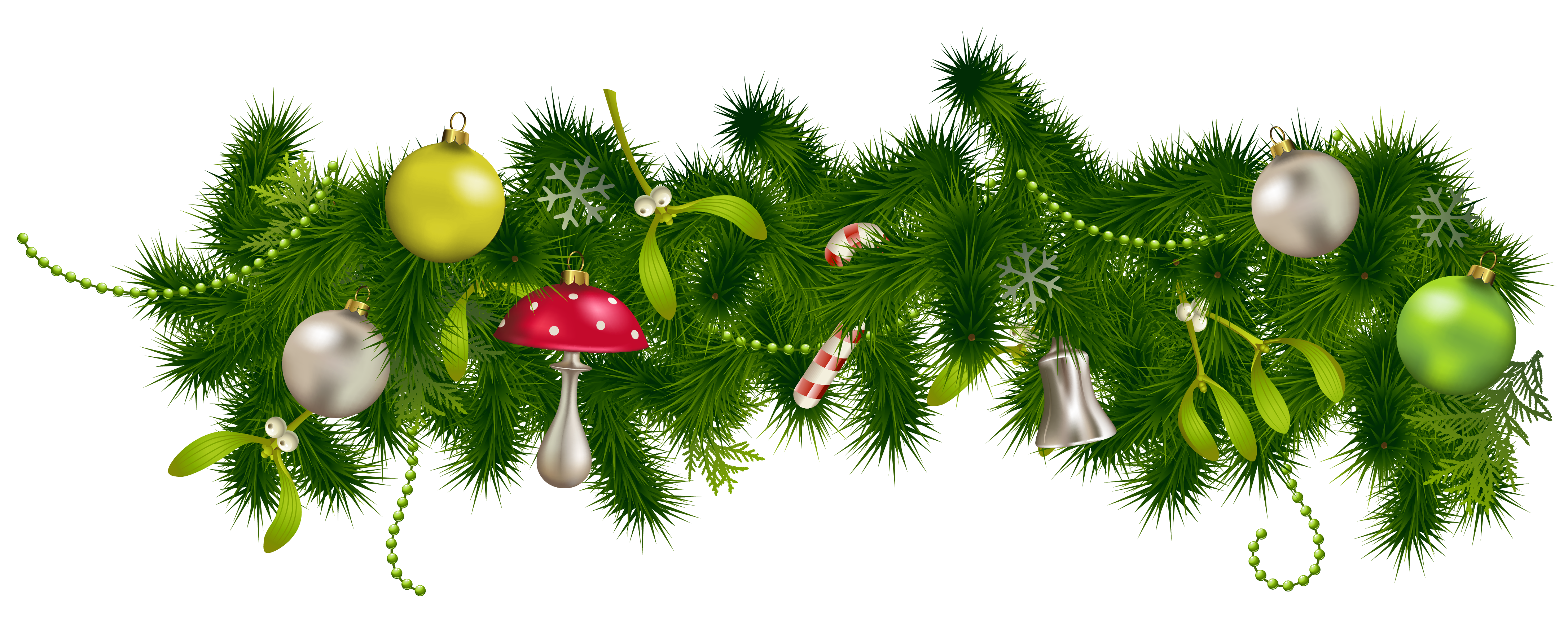 Pine decor clipart gallery. Christmas garland border transparent png