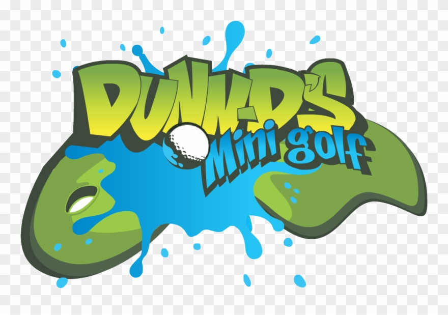 Mini golf graphic design. Golfer clipart summer