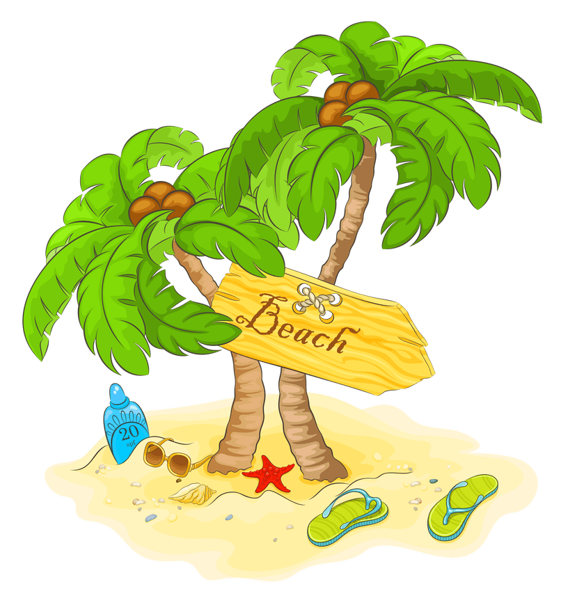 Palm clipart hammock. Free summer vacation background