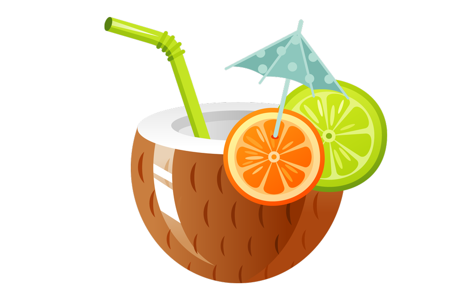 collection of drink. Coconut clipart clear background