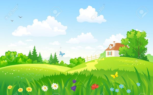 Clipart summer landscape.  background clip art