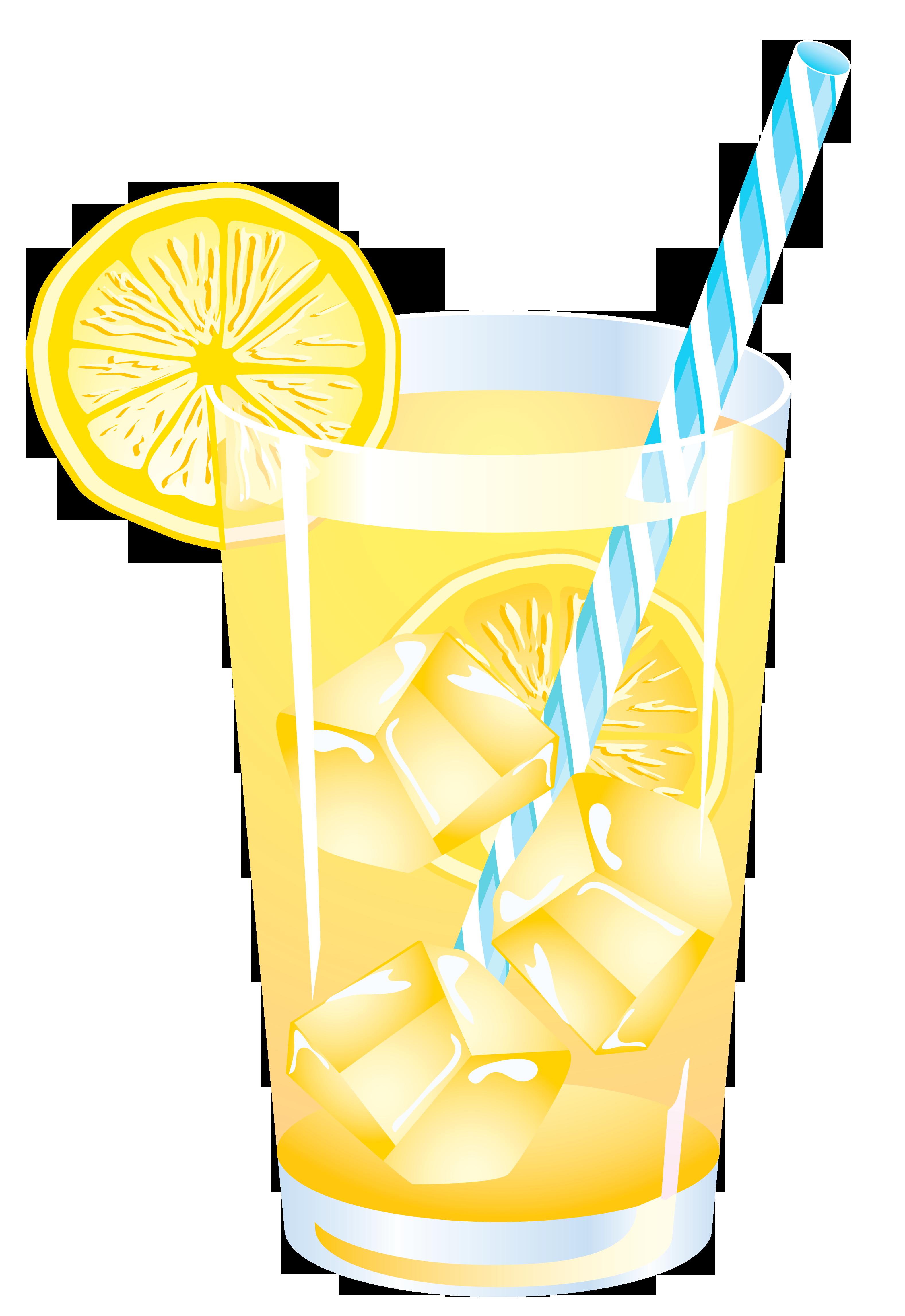 Lemon summer png vector. Drink clipart fancy drink