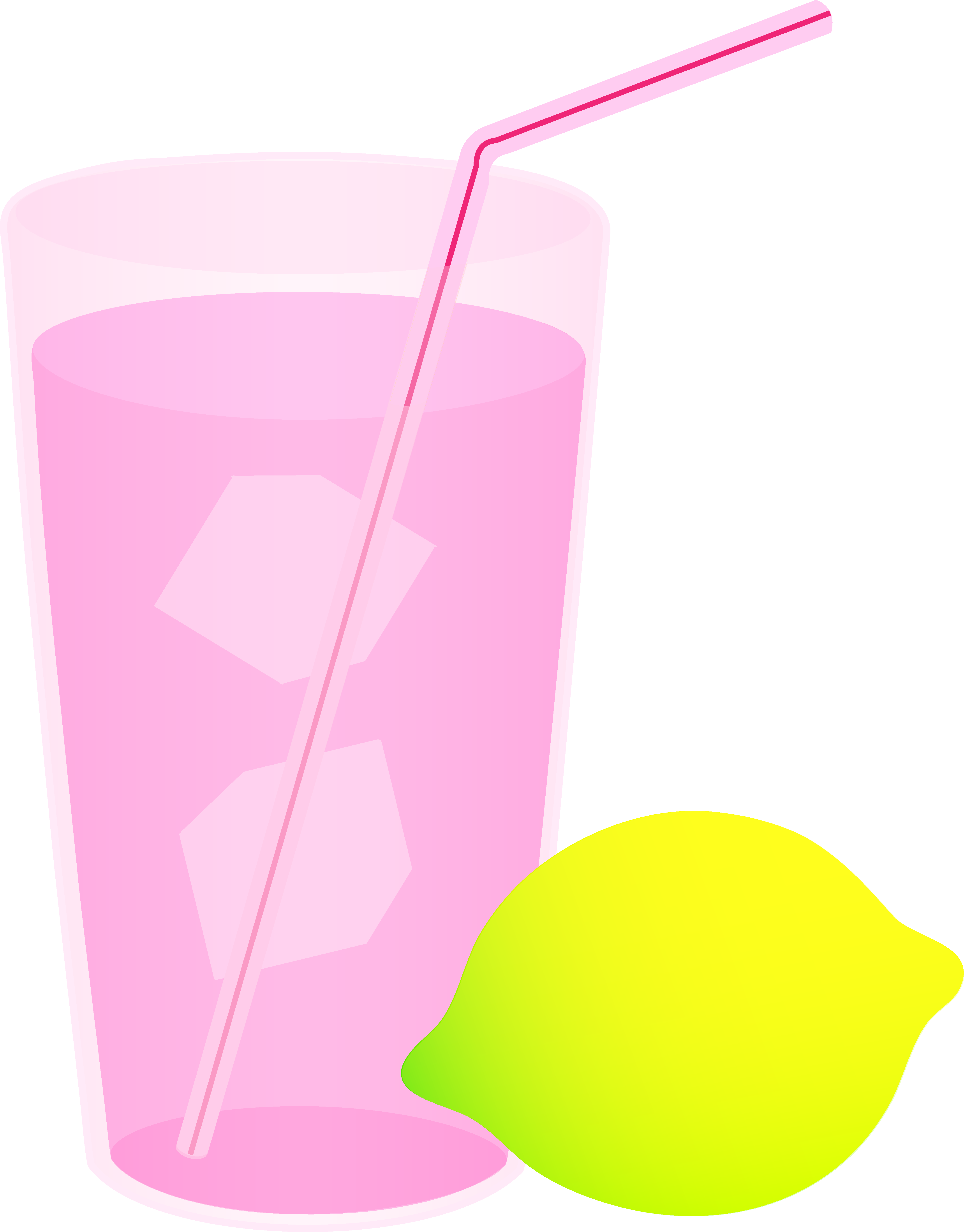 Lemons clipart lemonade. Glass of pink free