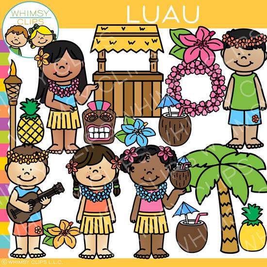 Clip art . Luau clipart summer