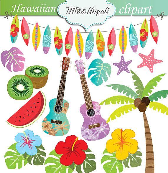 Hawaiian hawaii beach clip. Luau clipart summer