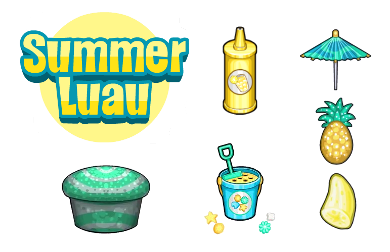 Luau clipart summer. Image cupcakeria hd toppings