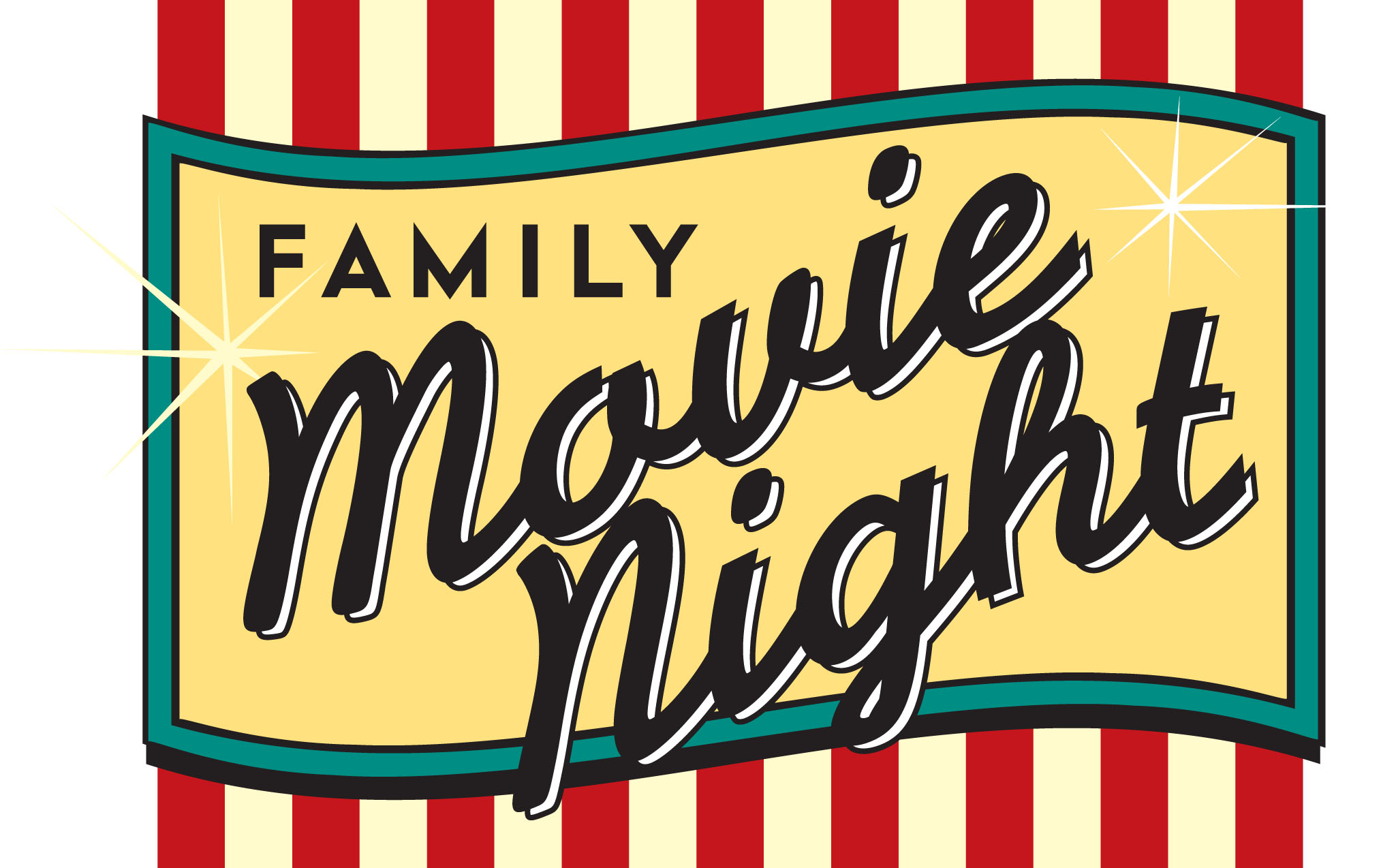 Best movie night clip. Movies clipart vector