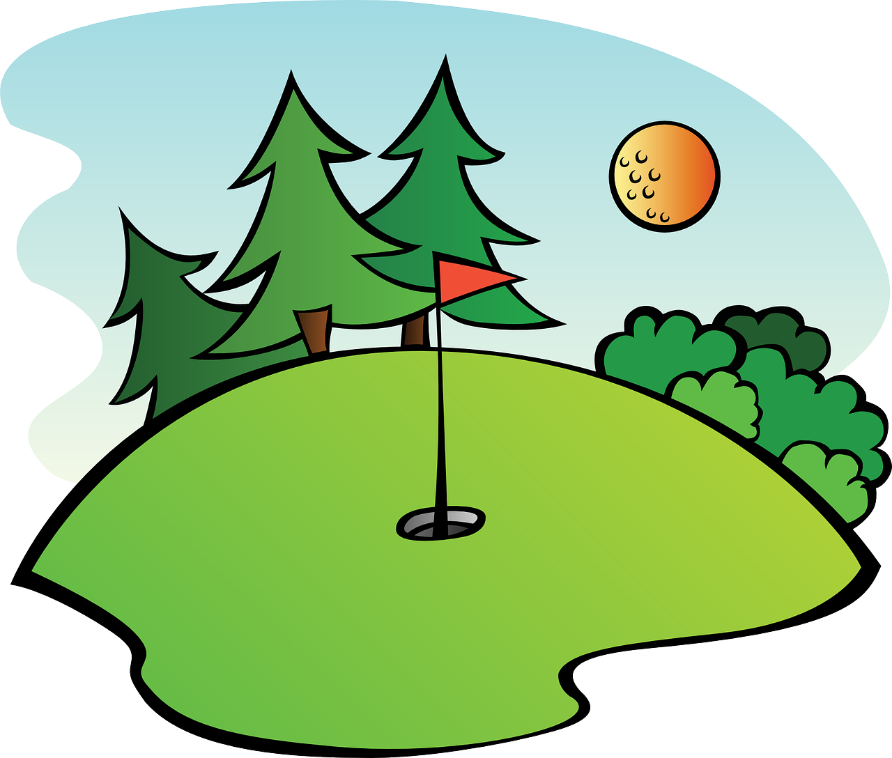 Golfing png there is. Clipart summer outing