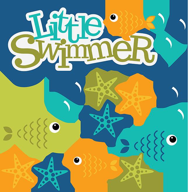 Fish clipart summer. Little swimmer svg scrapbook