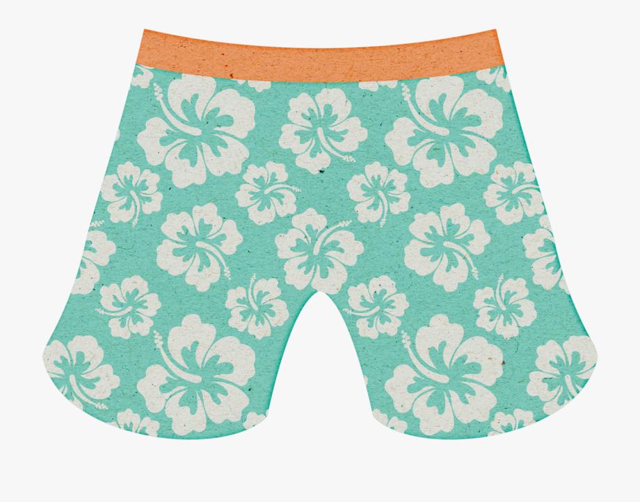 Summer shorts swim trunks. Swimsuit clipart swimming trunk