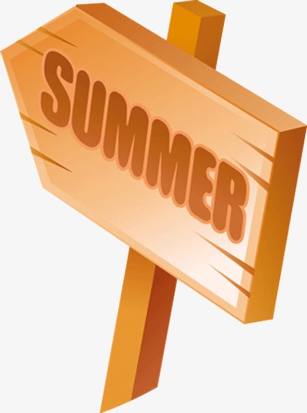 Signs with png image. Clipart summer sign