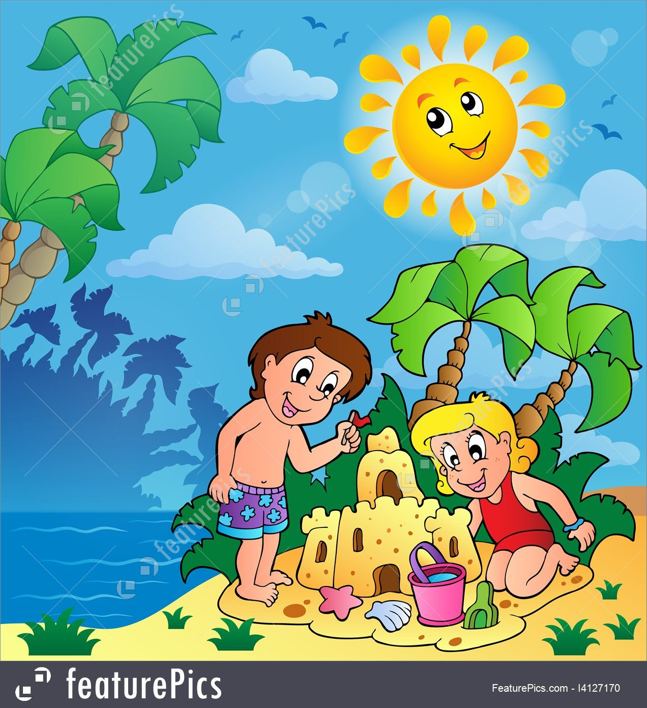 Images for children theme. Clipart summer summer season