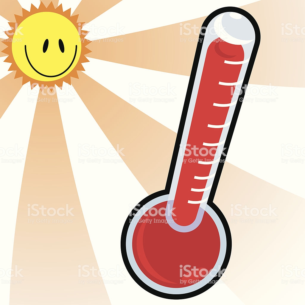 In summer station . Heat clipart thermometer