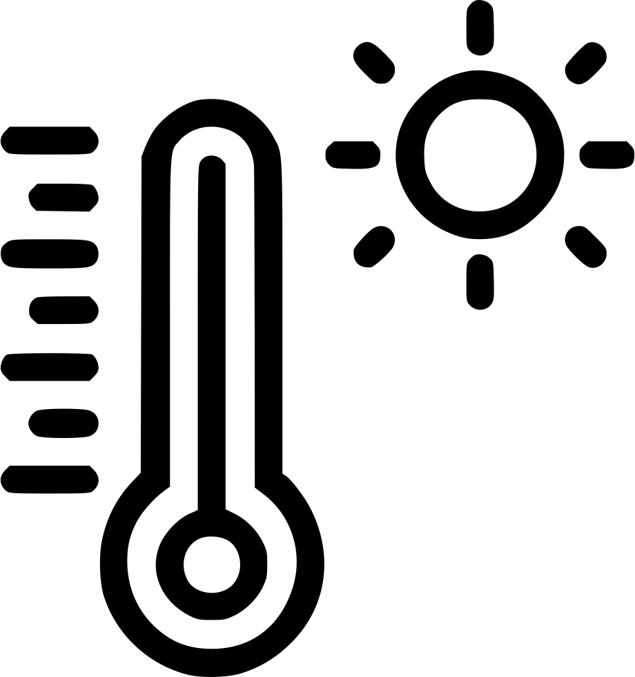 Thermometer reading hot light. Heat clipart low temperature