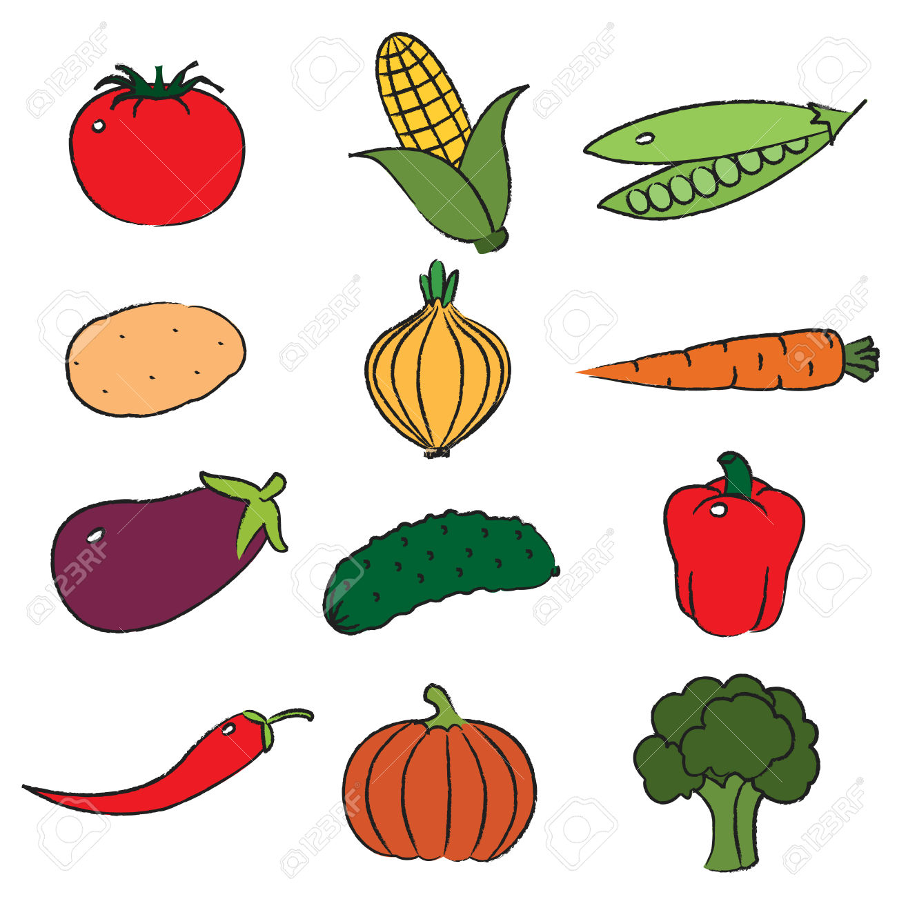 Clipart vegetables vege. Summer