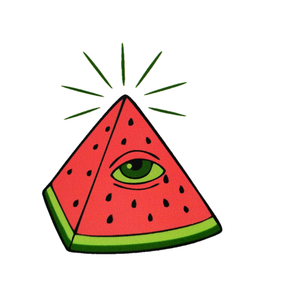 Tumblr illuminati sticker by. Watermelon clipart tumbler