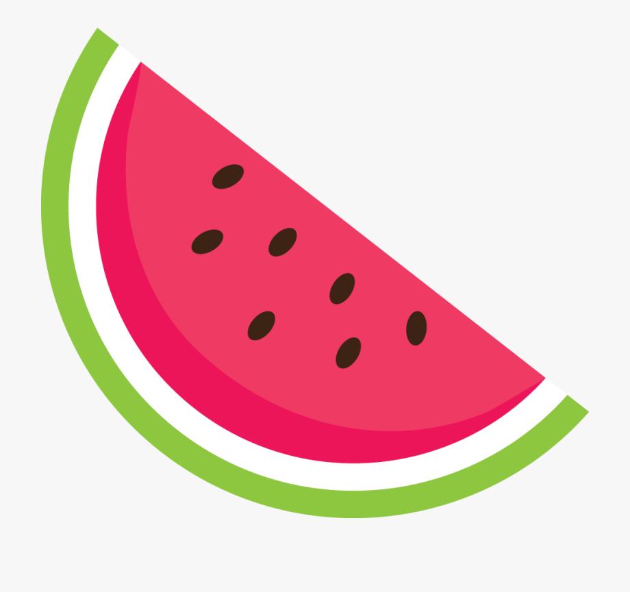 Summer sticker by oleynikova. Watermelon clipart transparent background