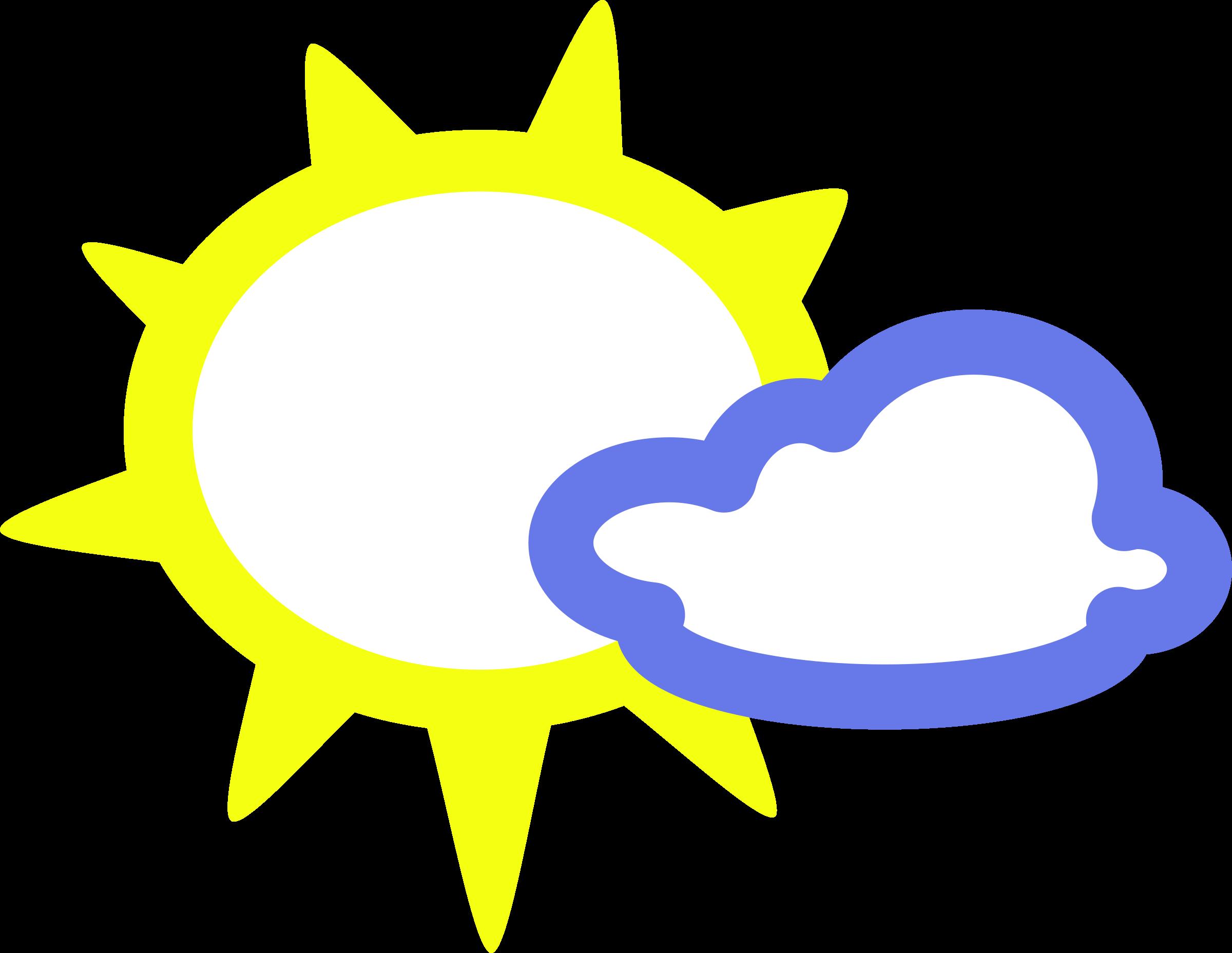 Sunny clipart simple. Weather symbols big image
