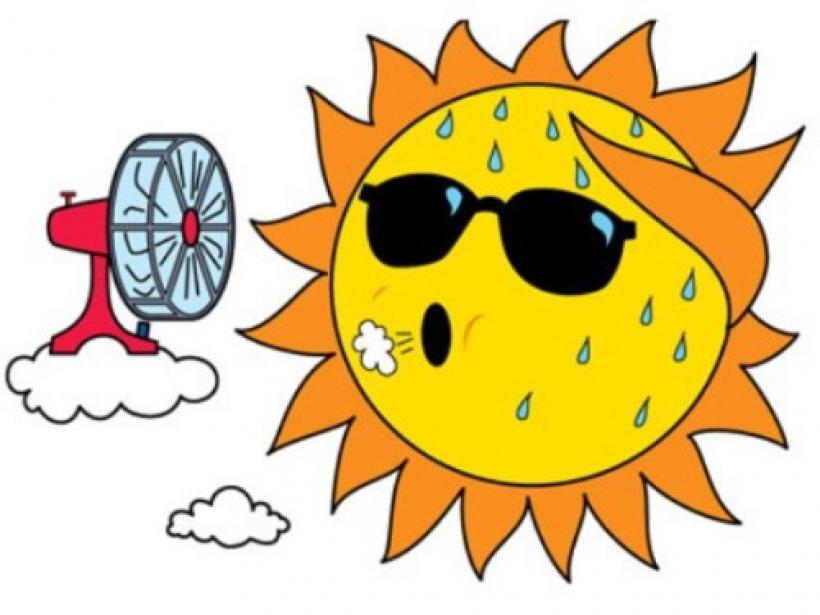 Summer sunbird lodge inside. Hot clipart mild weather