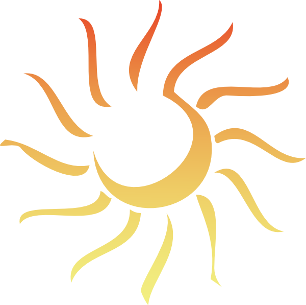 Clipart sun abstract. Revised clip art at