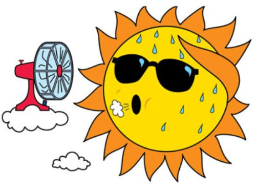 Clipart sun august. Water allowed and september