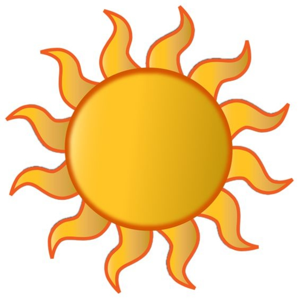 Events summer clip art. Clipart sun august