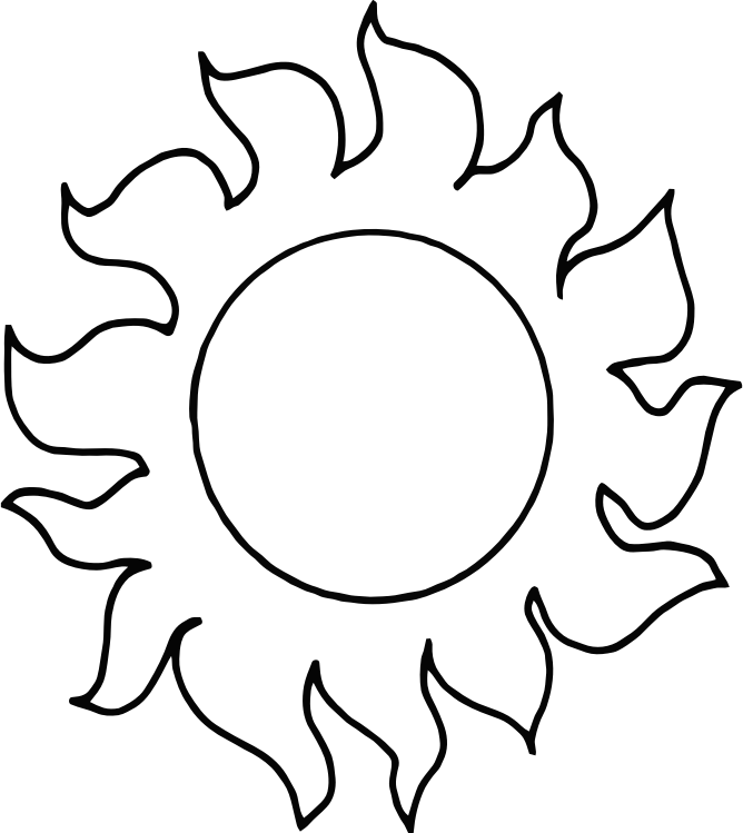 Clipart Sunshine Black And White Clipart Sunshine Black And White
