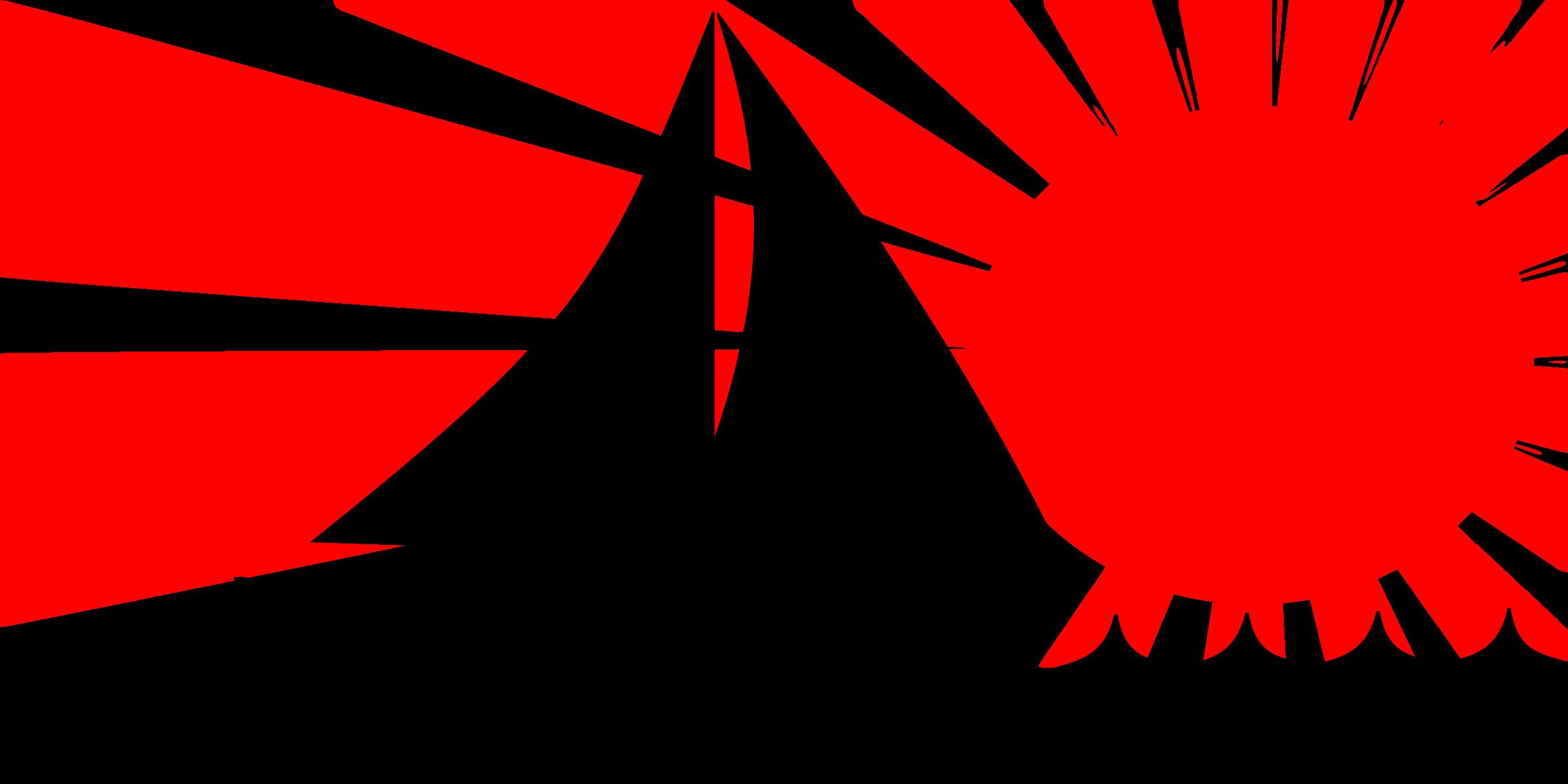 sunset clipart red sun