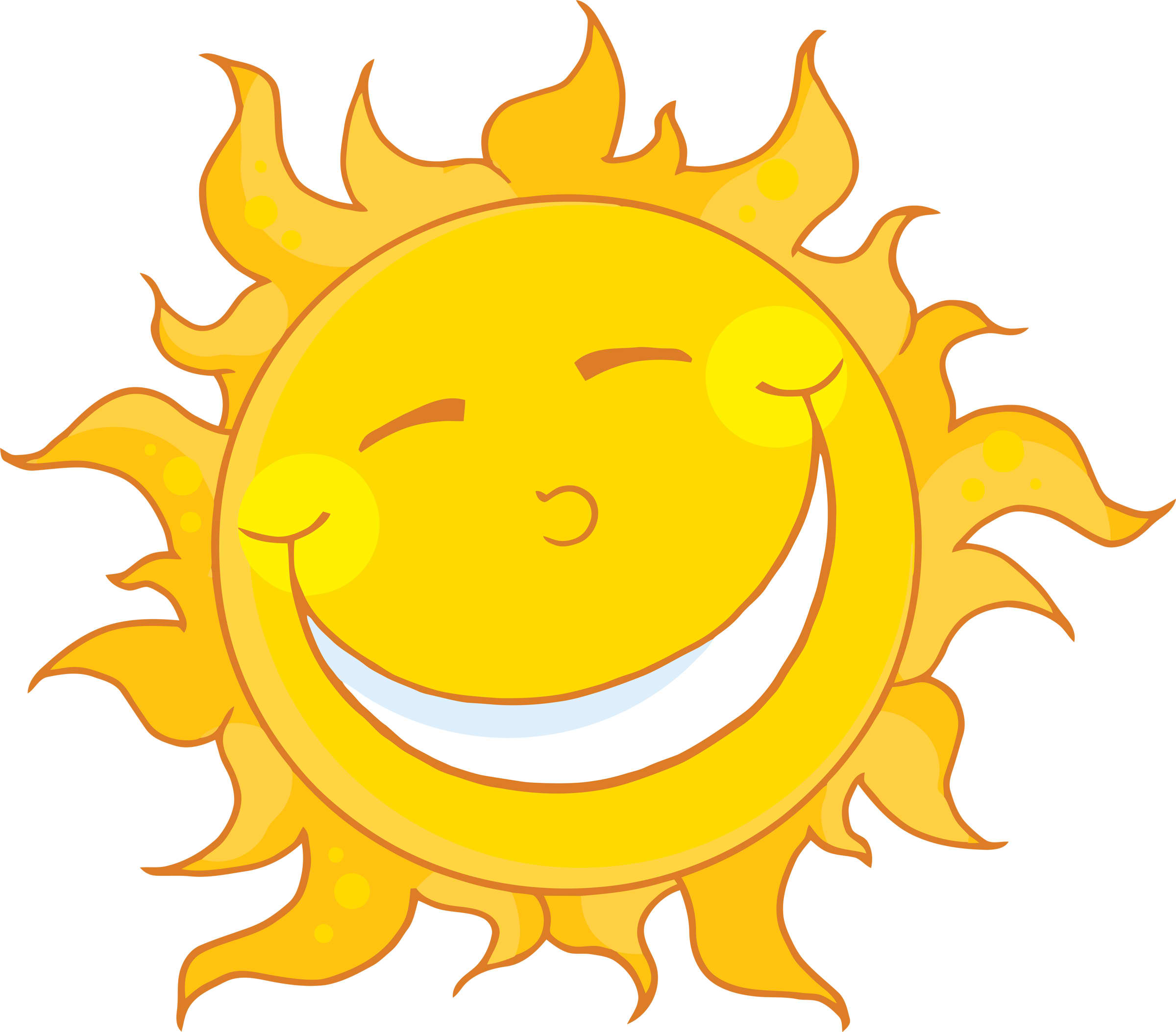 Free images of sun. Sunny clipart cartoon