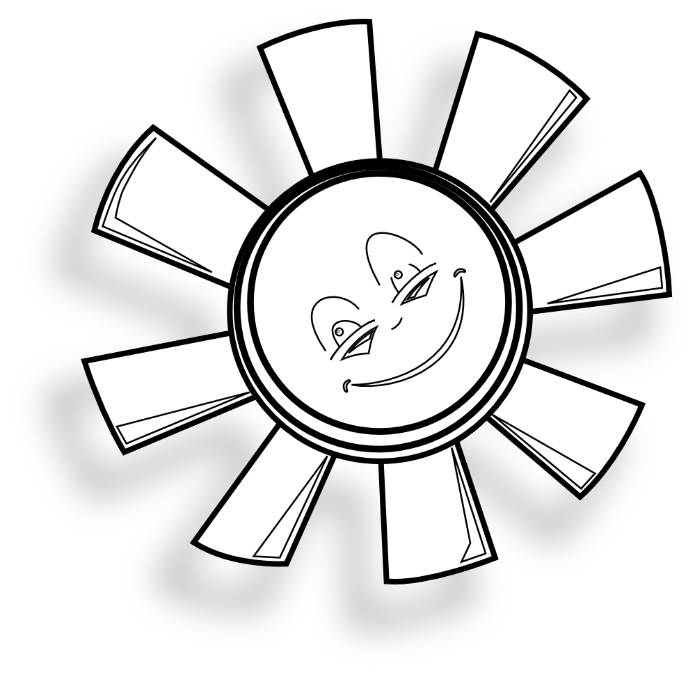 Happy drawing at getdrawings. Clipart sun colored