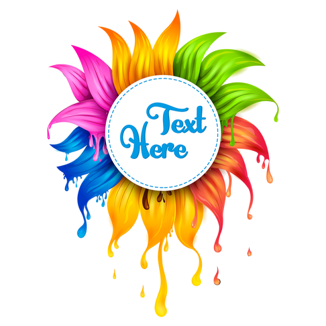 Evidence clipart badge. Color pull down flowers