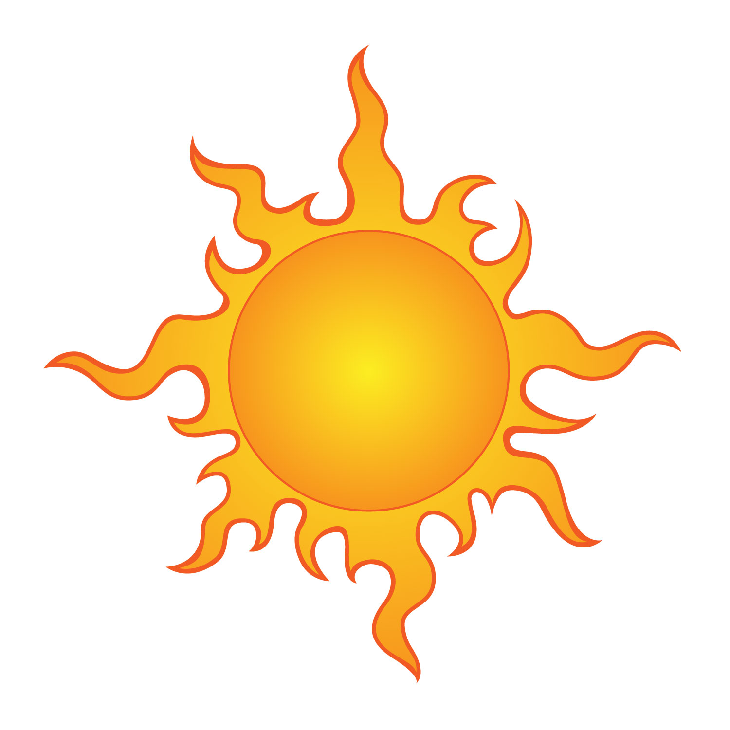 Clipart sun colored. Free drawings of the