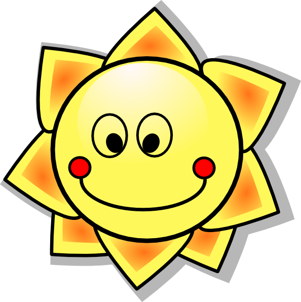 Cute clipart sun. Smiles free download best
