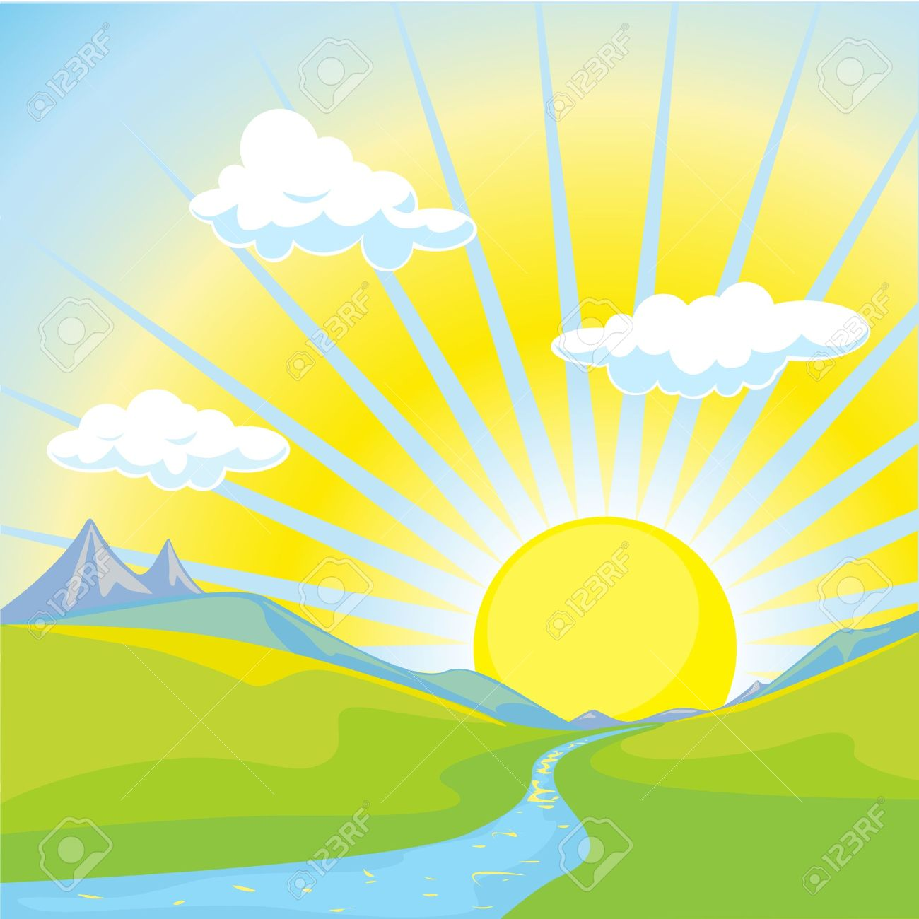 Hills clipart sunrise over. Free dawn cliparts download