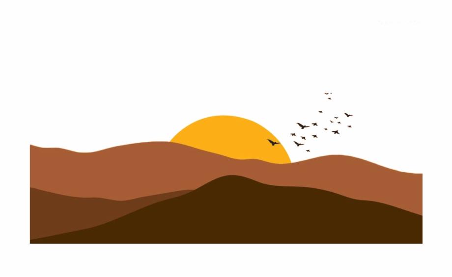 Sunlight drawing transparent cartoon. Desert clipart desert sun