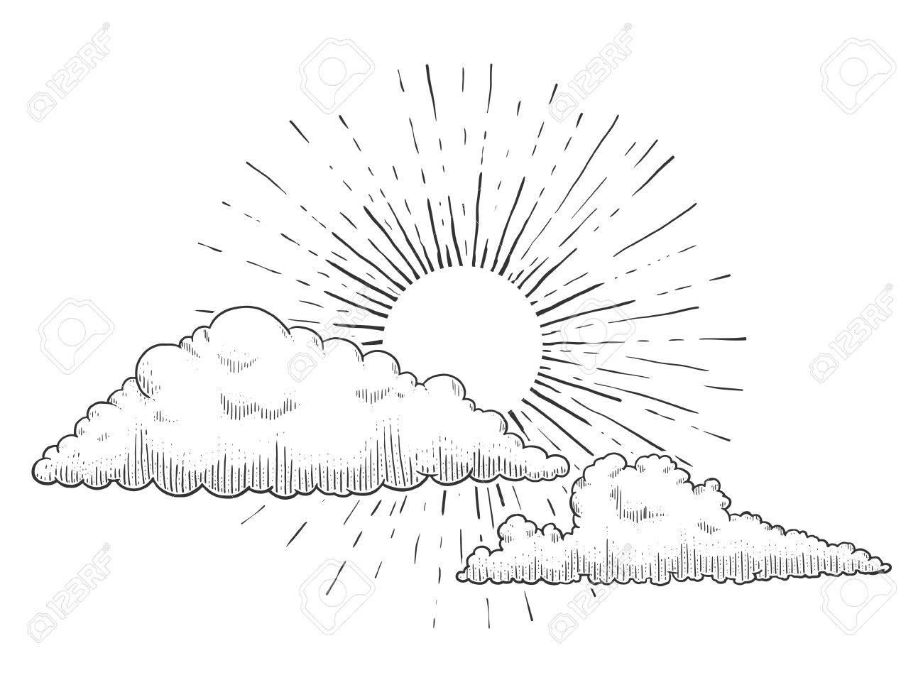 clipart sun drawn