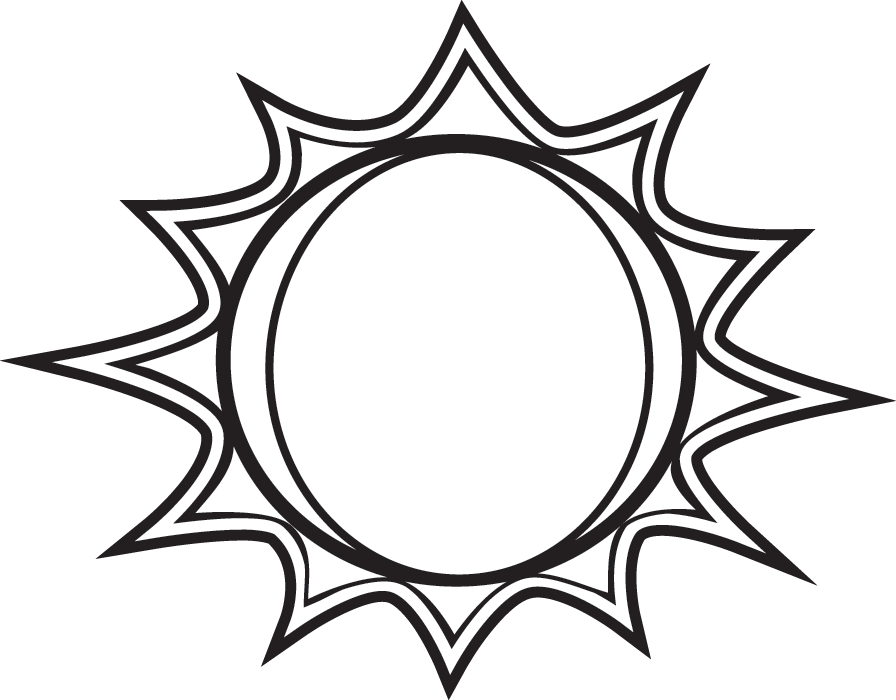 collection of black. Clipart sun drawn