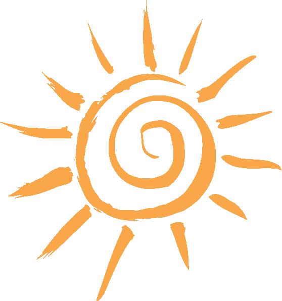 Simple motif clip art. Clipart sun drawn