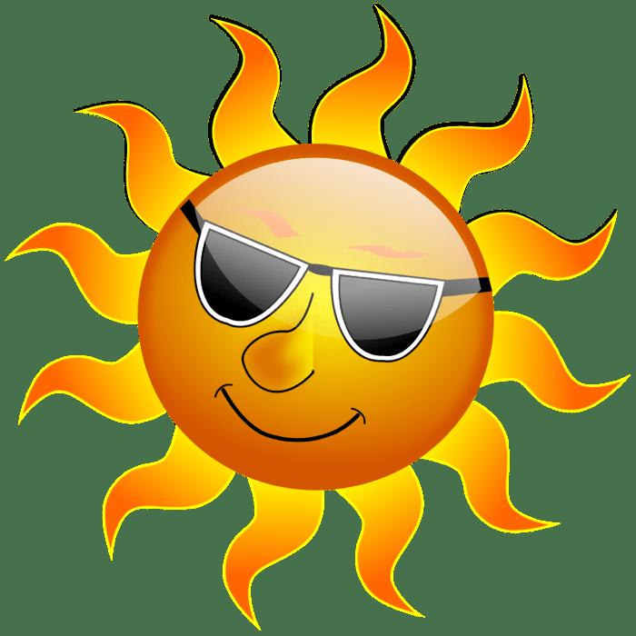Free sun clip art. Clipart sunglasses day